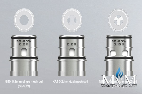 E-Zigarette, eZigarette, Coil, Verdampfer, Atomizer, Kriemhild, Vapefly, Ersatz Coil