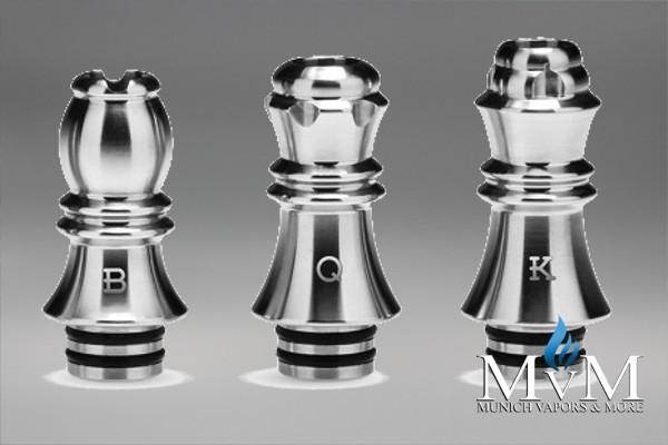 510er Drip Tip Edelstahl - Kizoku Chess Series 510