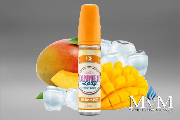 E-Zigarette, eLiquid, Fill Up, Short Fill ,Dinner Lady, Ice, Sun Tan Mango, Aroma, 20 ml