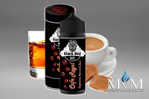 E-Zigarette, eLiquid, Fill Up, Long Fill ,Black Dog, Cafe Royal, Aroma,20 ml