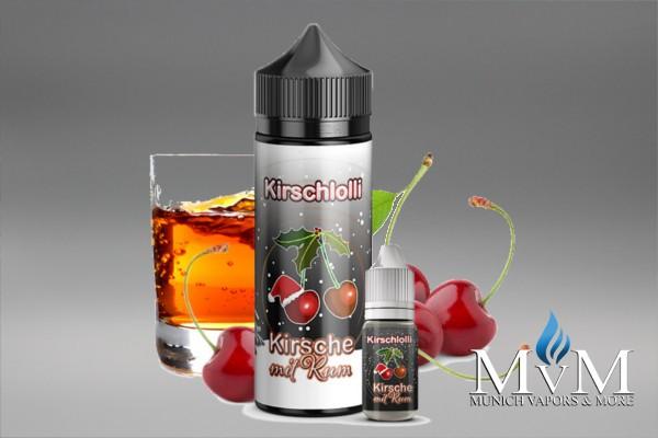 E-Zigarette, eLiquid, Fill Up, Short Fill ,Kirschlolli, Kirsche mit Rum, Aroma, 10 ml