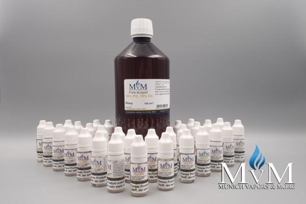 e-Zigarette, e-Liquid, Nik-Shots, Basen Set, 6 mg , 1000ml , Munich Vapors & More
