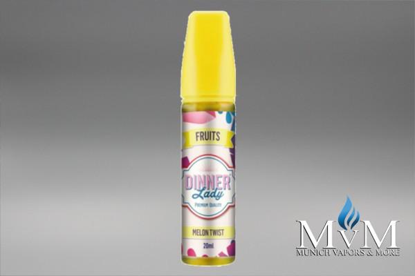 E-Zigarette, eLiquid, Fill Up, Short Fill ,Dinner Lady, Melon Twist, Aroma, 20 ml