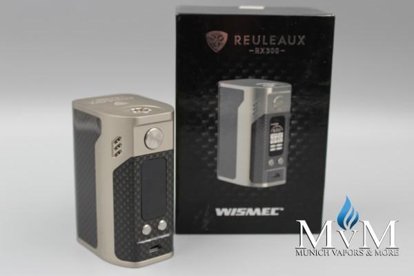 WISMEC Reuleaux RX300 Watt TC (Carbon) - 4x 18650