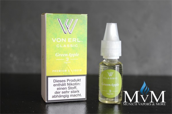 eLiquid, GreenApple, VON ERL.