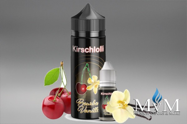 E-Zigarette, eLiquid, Fill Up, Short Fill ,Kirschlolli, Bourbon Vanille, Aroma, 10 ml
