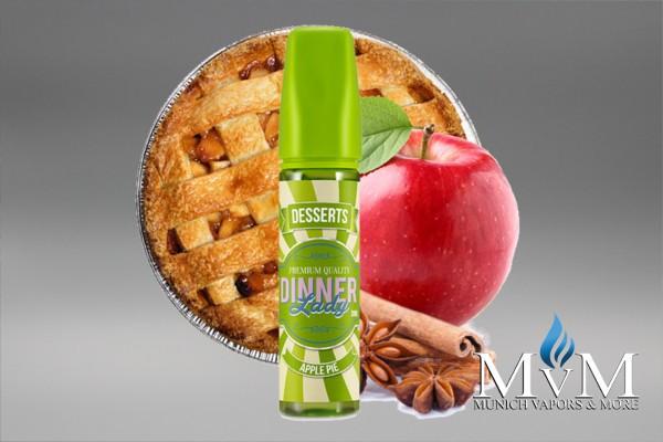 E-Zigarette, eLiquid, Fill Up, Long Fill ,Dinner Lady, Dessert, Apple Pie, Aroma, 20 ml