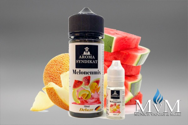 E-Zigarette, eLiquid, Fill Up, Short Fill ,Aromasyndikat, Melon Mix, Aroma, 10 ml