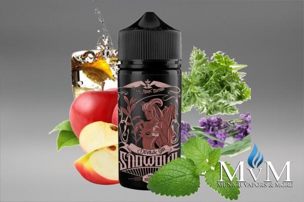 E-Zigarette, eLiquid, Fill Up, Long Fill ,Snowowl, Devils Gin, Aroma,25 ml